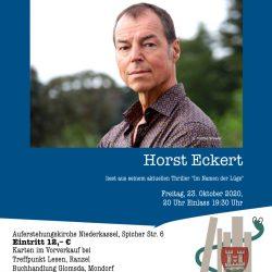 Plakat Lesung Horst Eckert